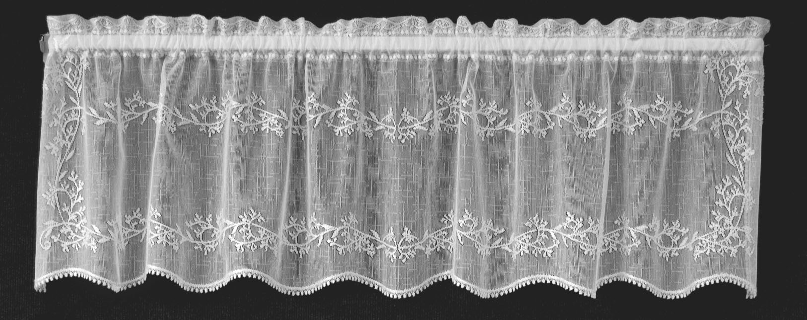 curtains brise in curtain tradition bise valance htm macrame ecru cafe lace bottom