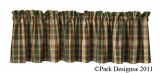 Park Designs Scotch Pine Valances- 3 Styles