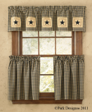 Park Designs Star Patch Lined Patch Valance