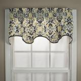 Ellis Curtain Folk Damask Wave Valance - 2 Colors