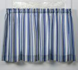 Ellis Curtain Mason Stripe Tailored Tier Pair - 3 Colors