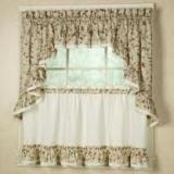 Ellis Curtain Cherries Ruffled Tier Pairs -3 Sizes