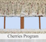 Ellis Curtain Cherries Ruffled Valance