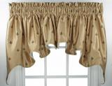 Ellis Curtain Fleur De Lis Duchess Valance - 3 Colors